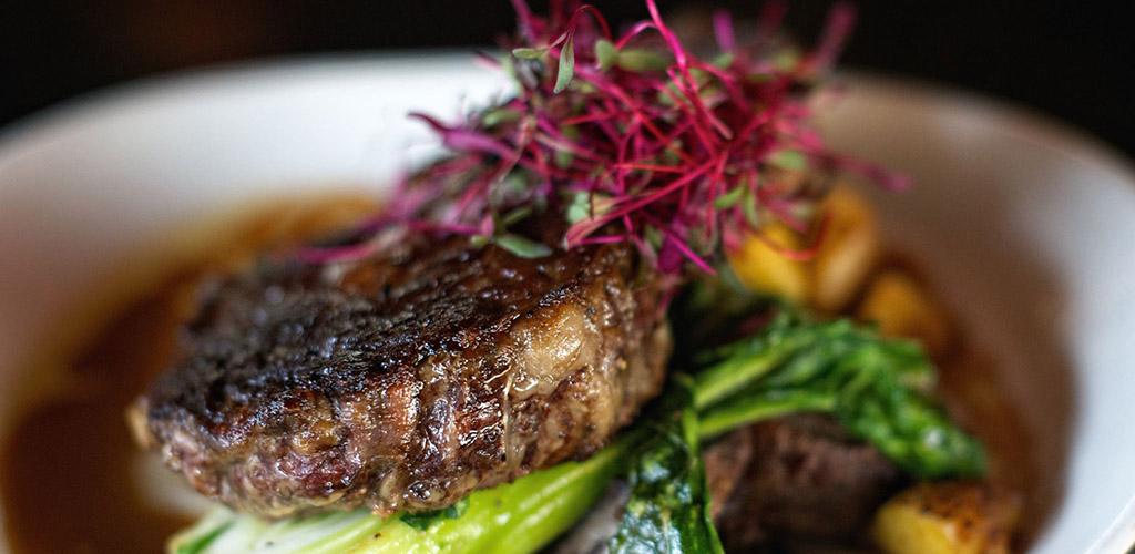 Steak from Vernon's Speakeasy