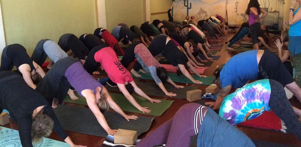 A class at Tucson Yoga Studio