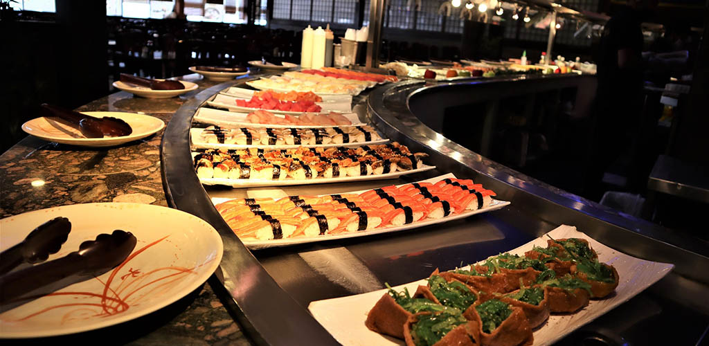 A selection of sushi rolls at Yukai Japanese and Seafood Buffet