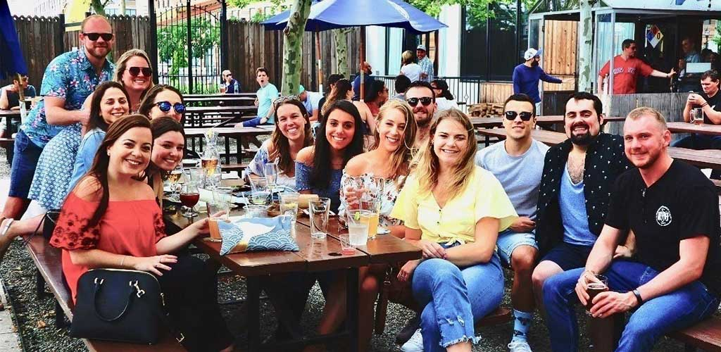 Enjoy a cold craft beer, amazing food and Jersey City hookups at Zeppelin Hall Beer Garden