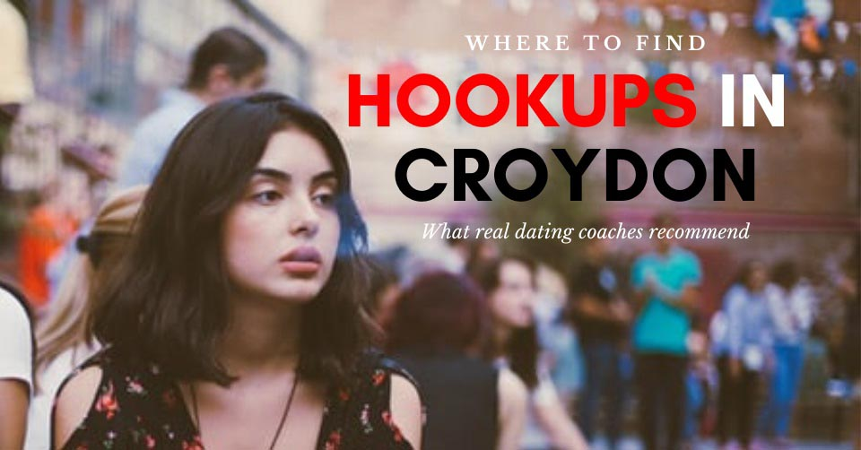 A woman at an outdoor bar looking for hookups in Croydon
