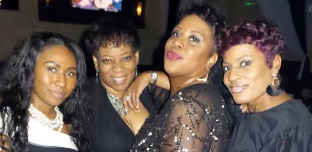 Buxom ladies on a night out at Brickhouse Lounge