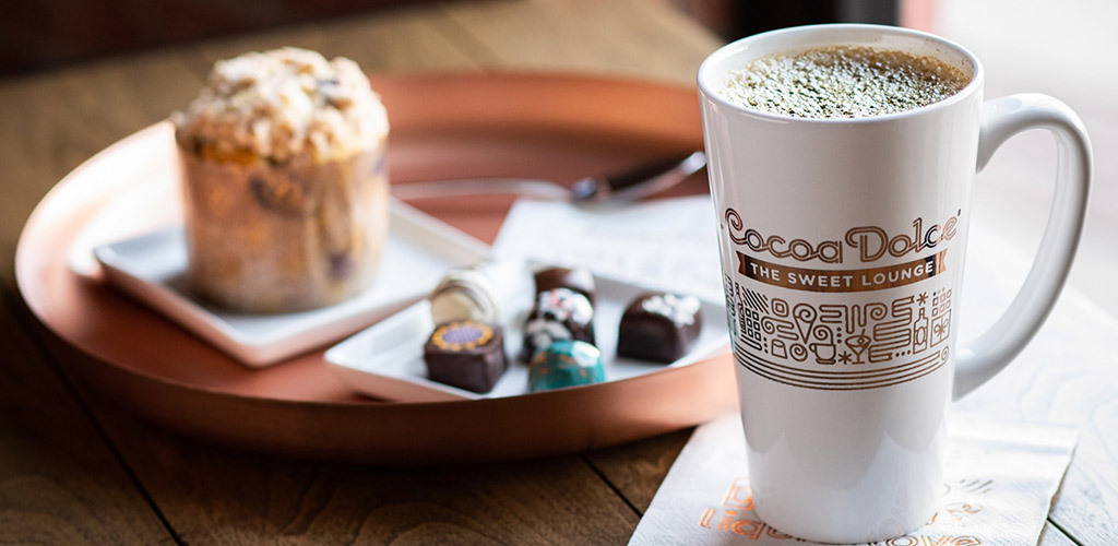 Coffee and chocolate from Cocoa Dolce Artisan Chocolate