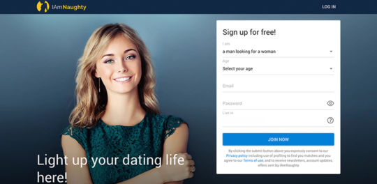 IAmNaughty dating website review