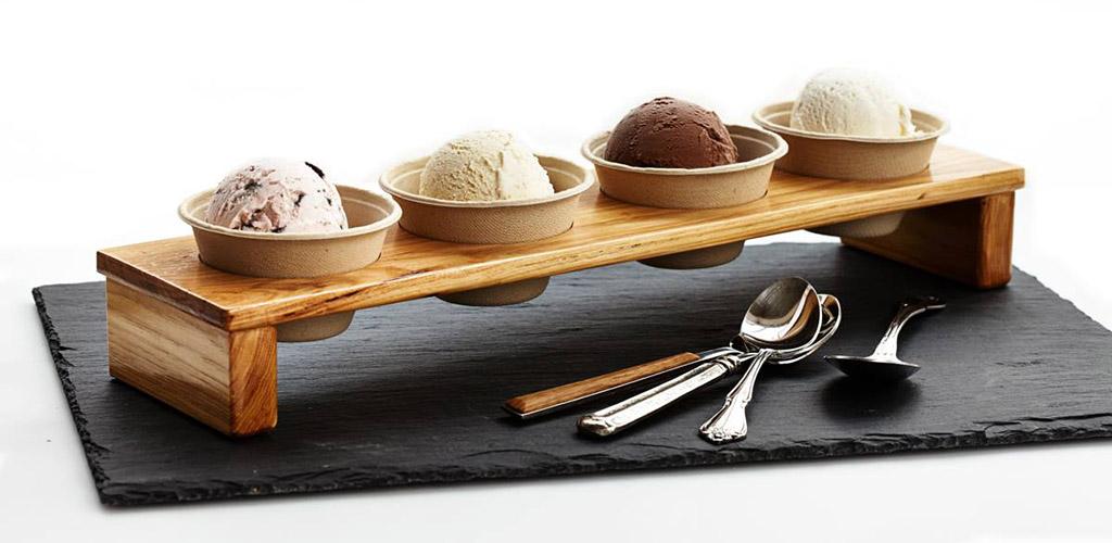Various ice cream flavors from Purple Door