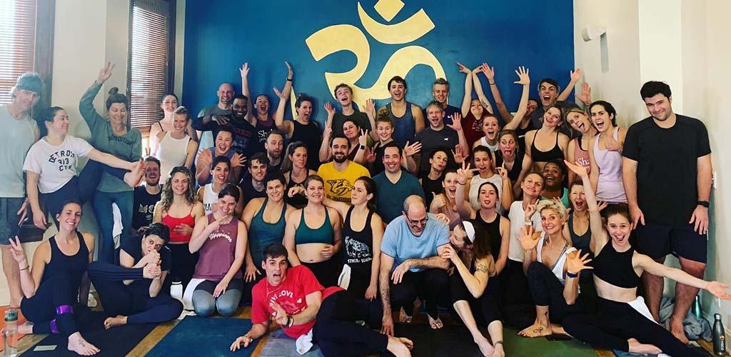After a yoga class at Shakti Power Yoga