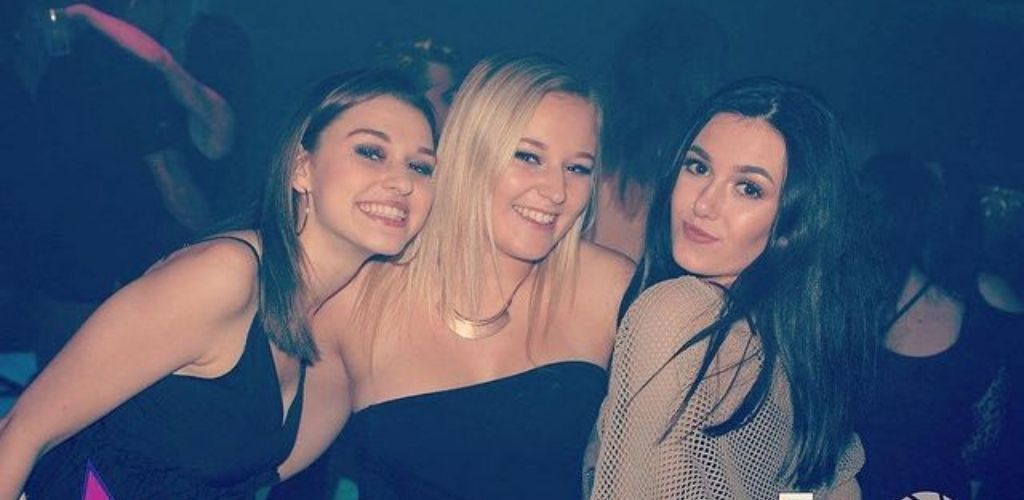 3 Cute Bradford girls partying and hooking up at Flares-Reflex nightclub