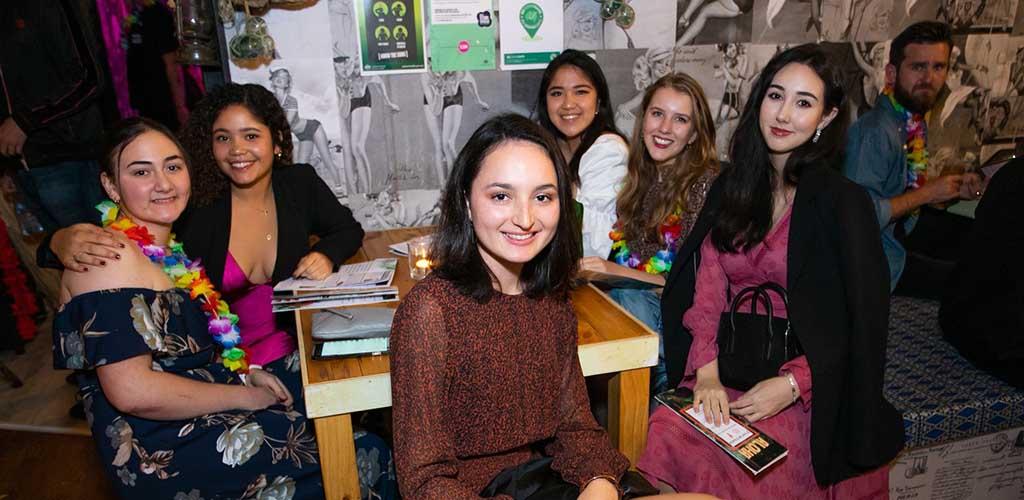 Ladies enjoying an evening at Aloha Bar