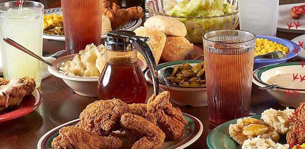 A variety of dishes available at Babe's Chicken Dinner House