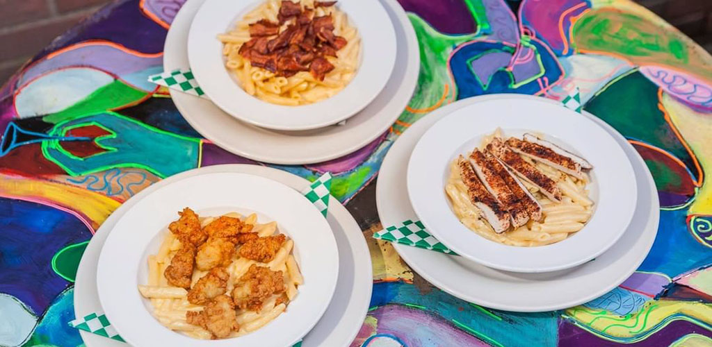 Pasta dishes from Bourbon Street Blues