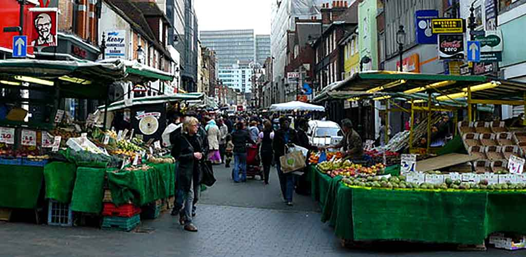 A busy day at the Surrey Street Market