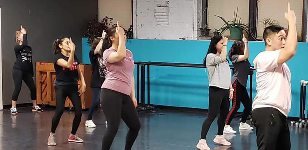 A class at Dance Works