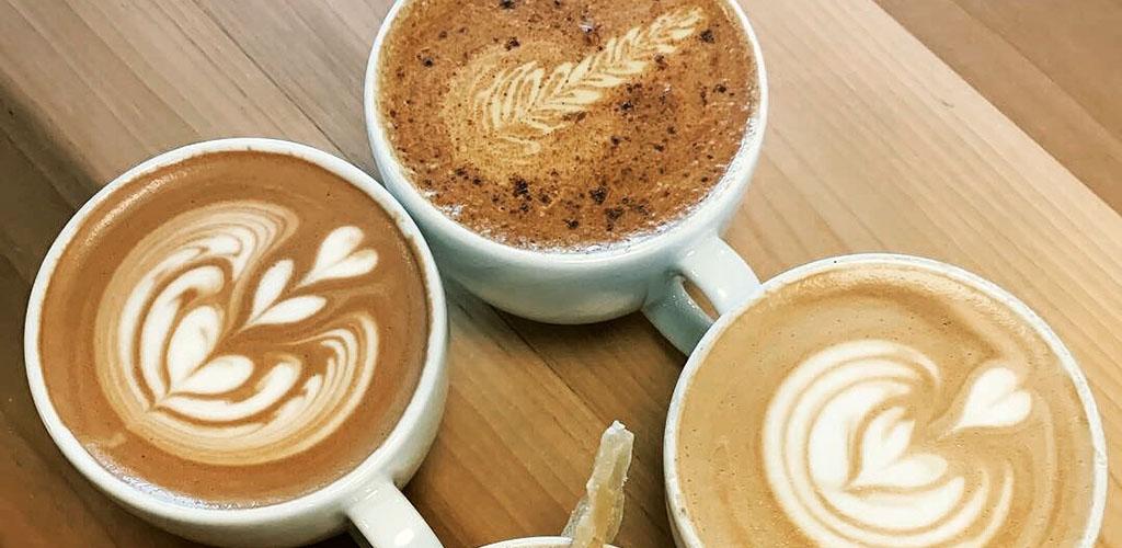 Latte art from Frothy Monkey