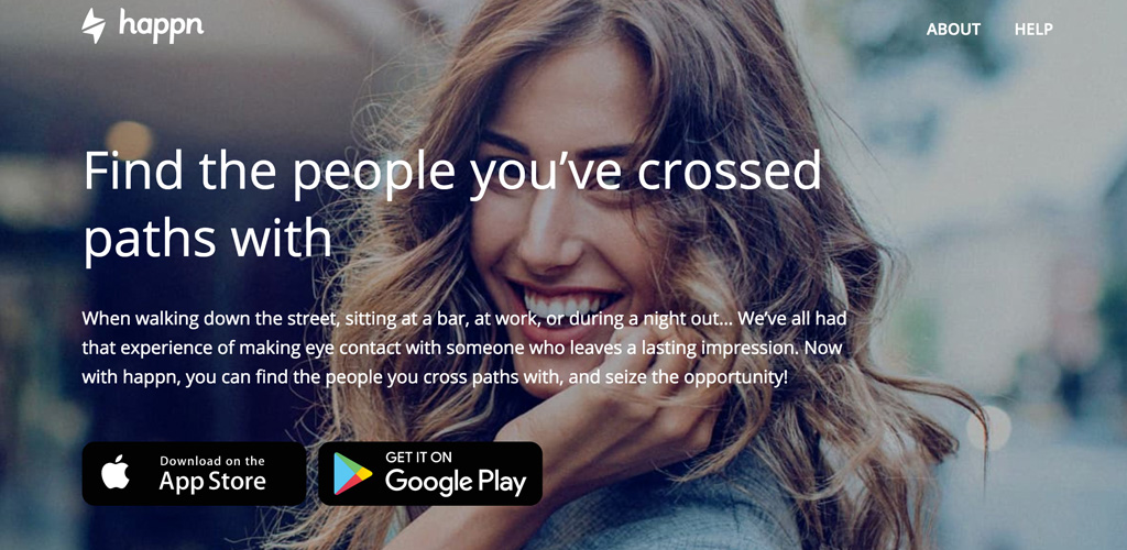 happn dating app homepage