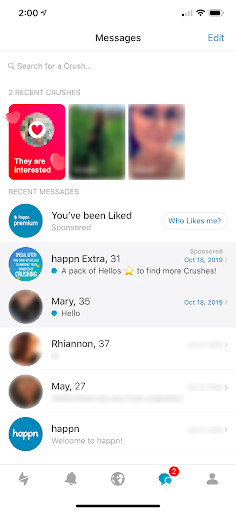 happn dating app messaging