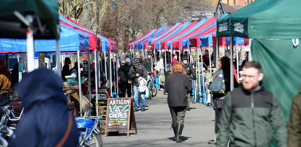 A busy day at Roath Farmers Market