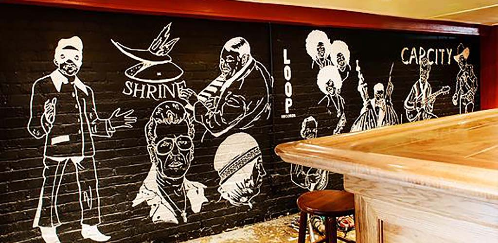 The mural at Showtime Bar