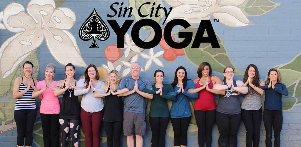 A yoga class at Sin City Yoga