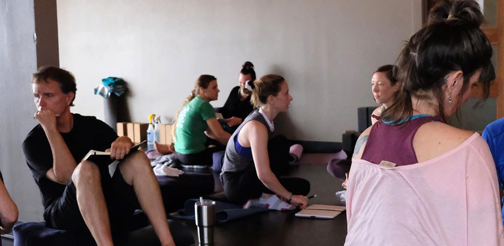 Before a yoga class at The Yoga Project