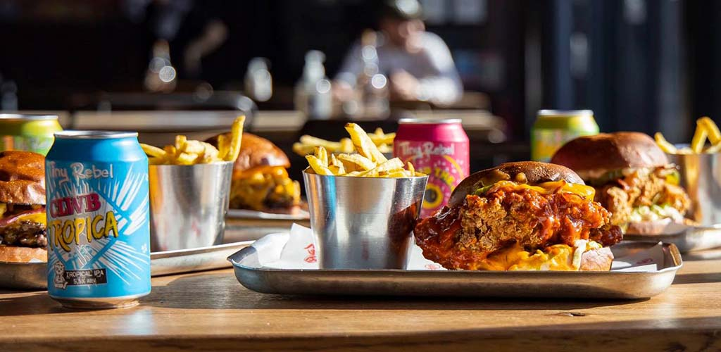 Burgers, fries and brews from Tiny Rebel