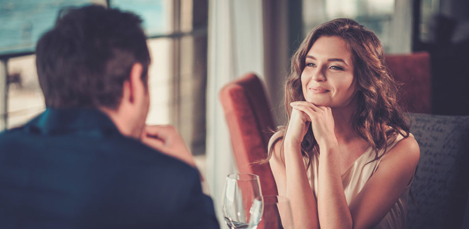 Woman intrigued by the deep topics he wants to talk about