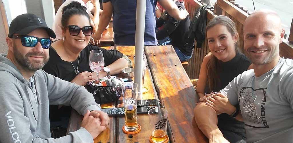 Friends having lunch at Hogs Head Pub