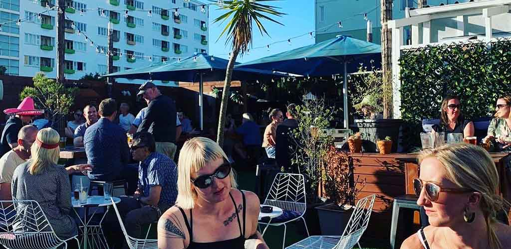A sunny day at The Arborist Rooftop Bar