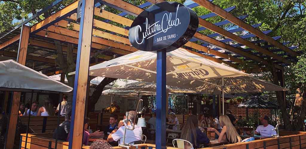 The sunny patio of Culture Club