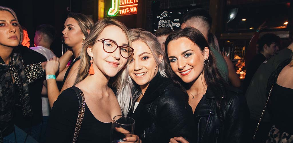 Cute girls grabbing drinks at Lavery's