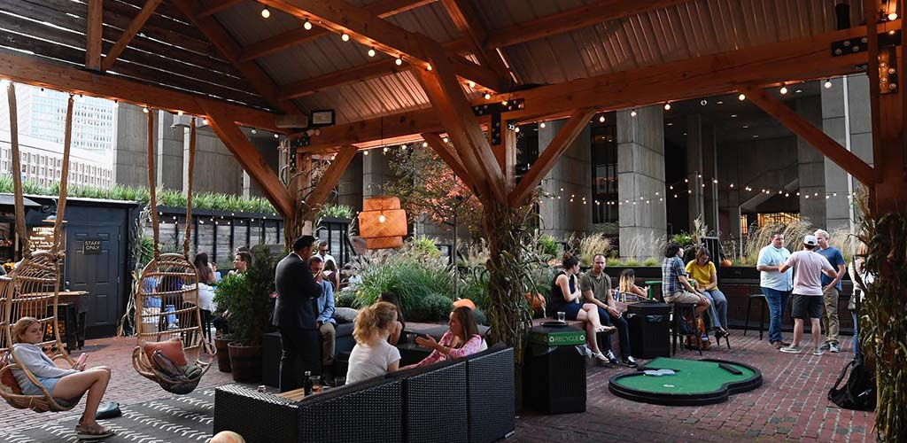 Grab a glass of beer before searching for Boston casual encounters at The Patios
