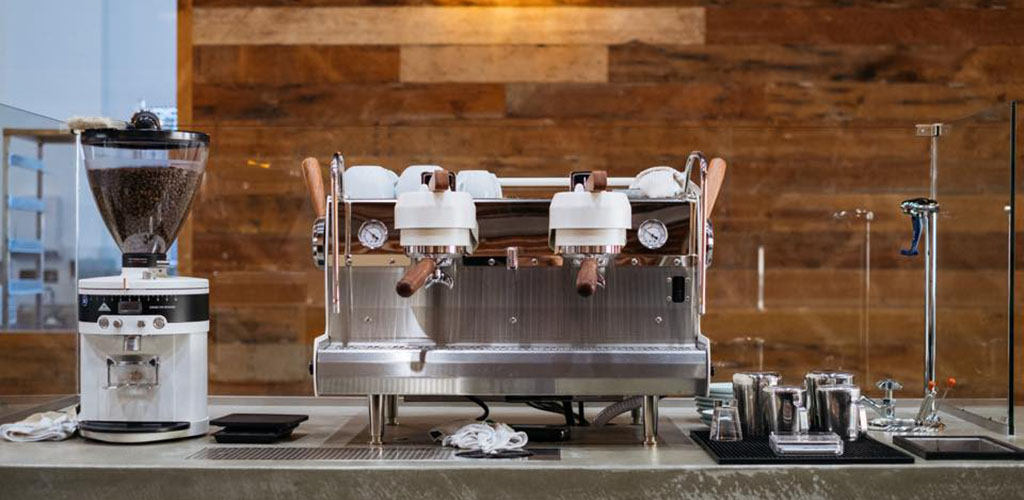 The espresso machine at Hidden House Coffee