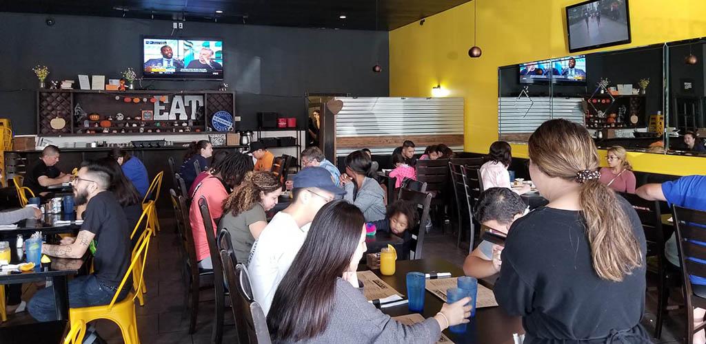 Anaheim BBWs enjoying some food at The Scratch Room