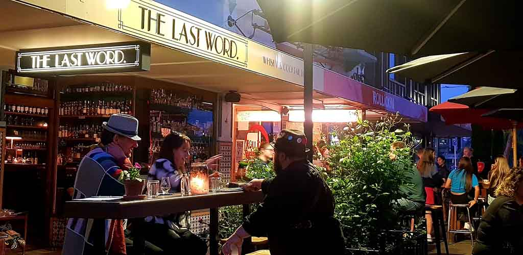 The patio of The Last Word