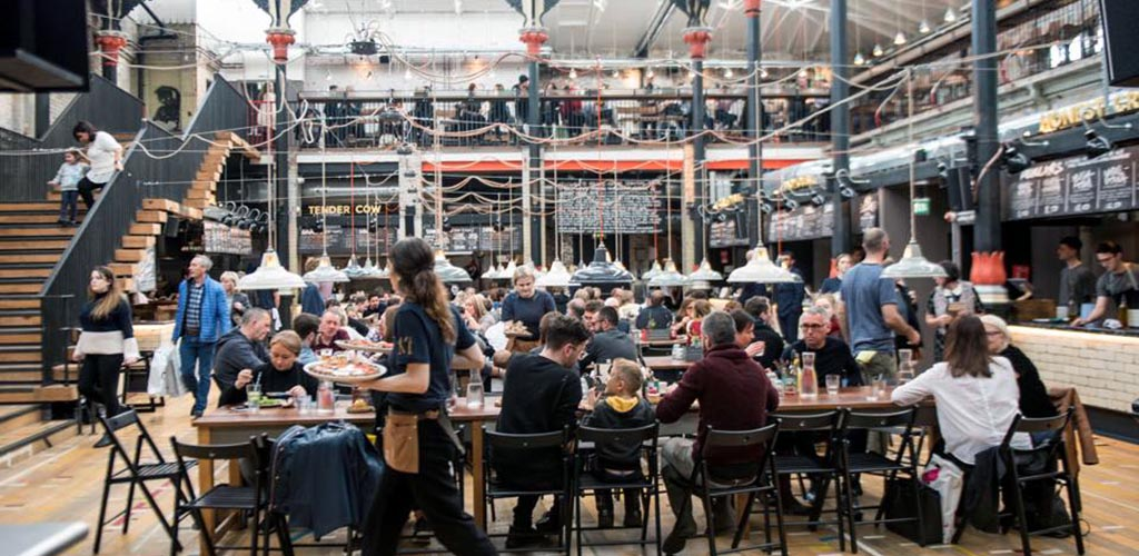 factorymancheMackie Mayor is a fun sociable market building where single women in Manchester head to grab a bite and a cheeky drinkster