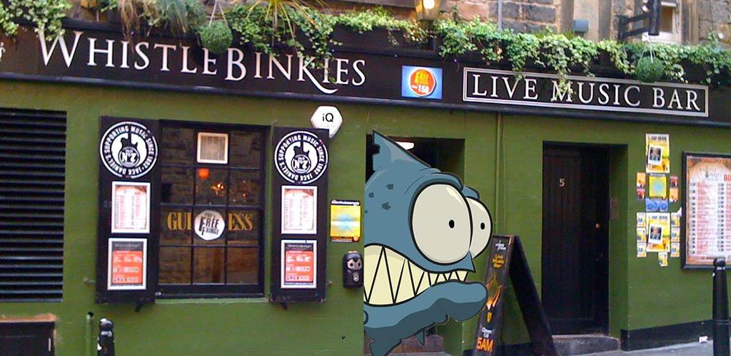 Whistlebinkies is a fun live music venue that's popular with single women in Edinburgh
