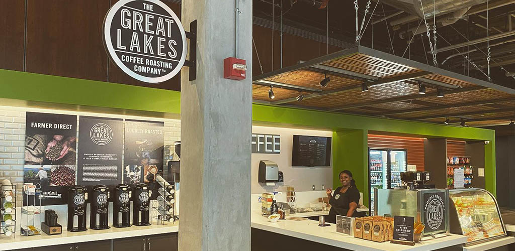 The Great Lakes Coffee Roasting Company is a great spot to grab a coffee and meet Detroit single women