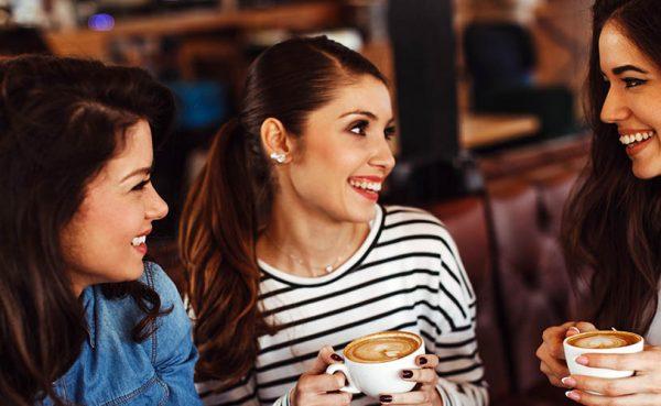 Three single women seeking men in Denver having coffee