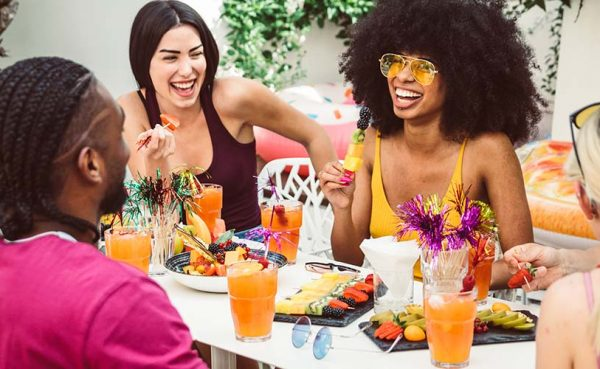 Single women seeking men in Charlotte enjoying brunch