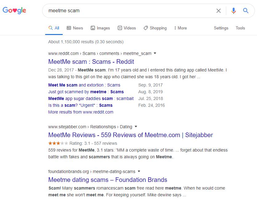 MeetMe Google Screenshot