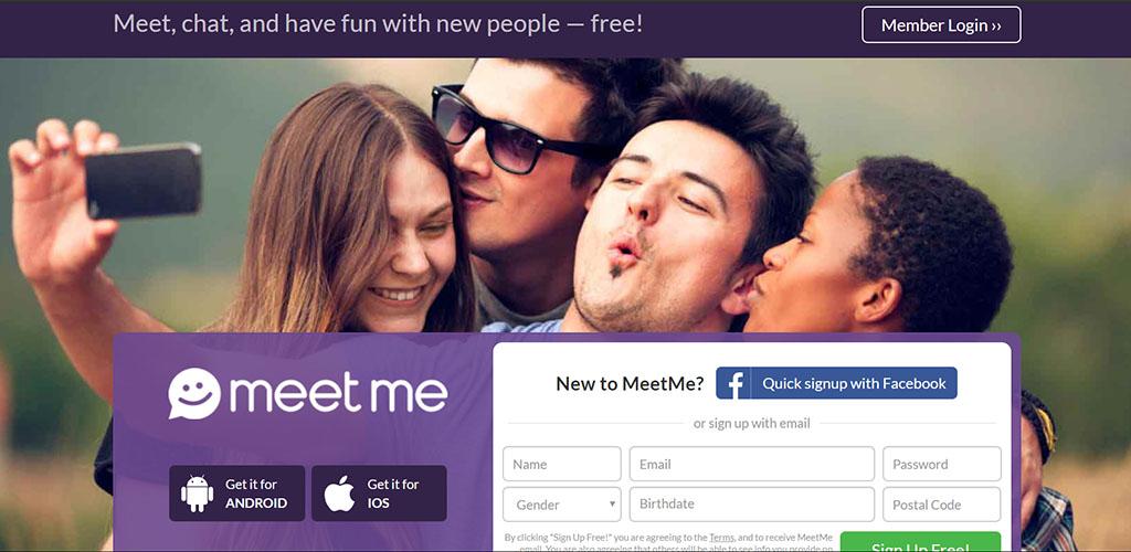 MeetMe reivew Landing Page