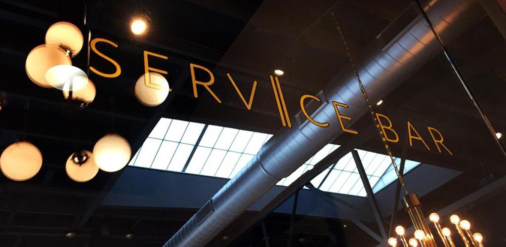 The Service Bar sign
