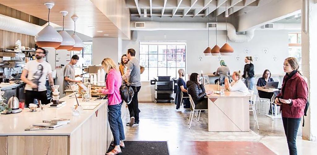 Upper Left Roasters is an awesome local coffee spot where you can meet Portland single women
