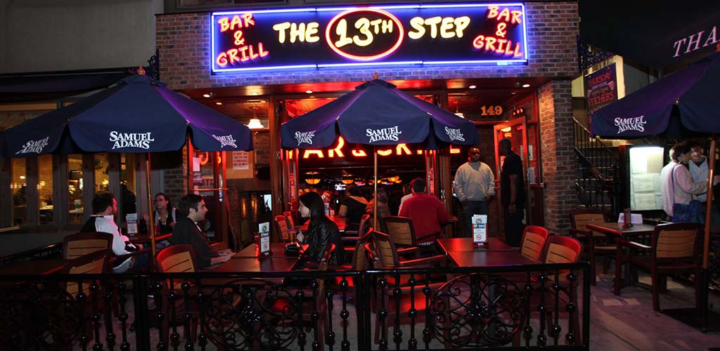 The patio of The 13th Step