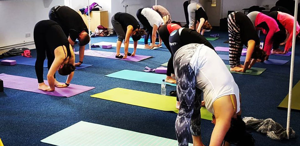A yoga class at Bradford Yoga