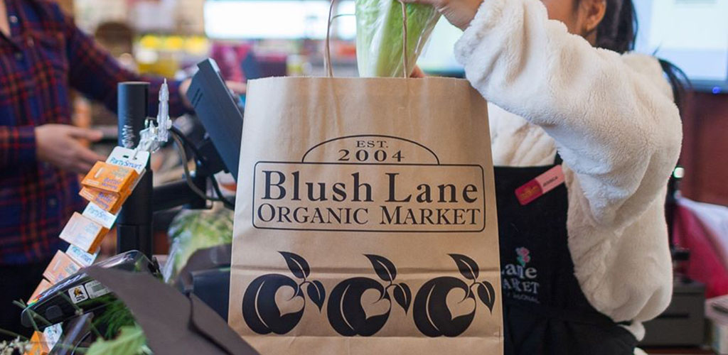 Checkout counter at Blush Lane Organic Market