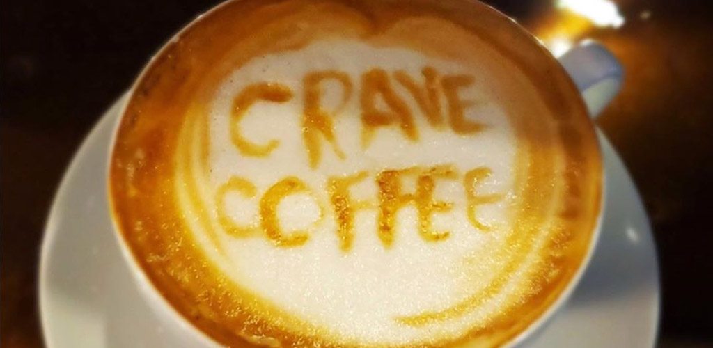 Latte art from Crave Coffee