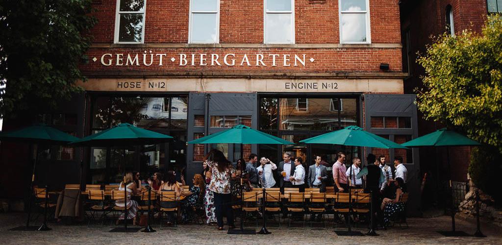 Gemüt Biergarten is a Columbus singles bar full of girls
