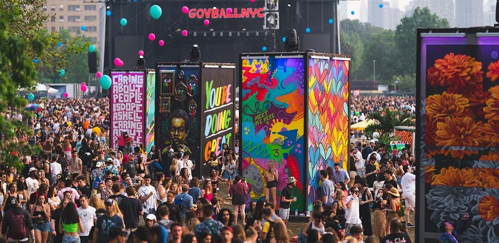 The vibrant throng of people turning up to Governors Ball