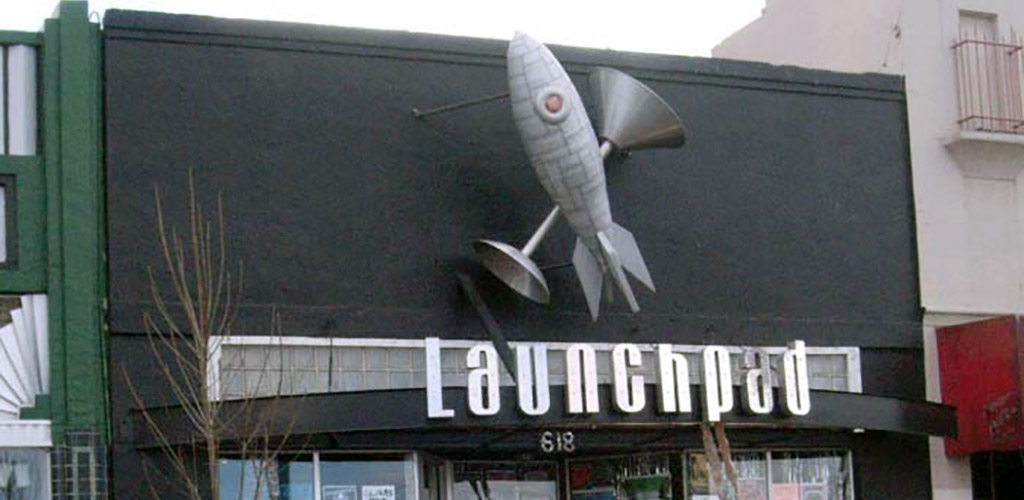 Signage of Launchpad live music hall