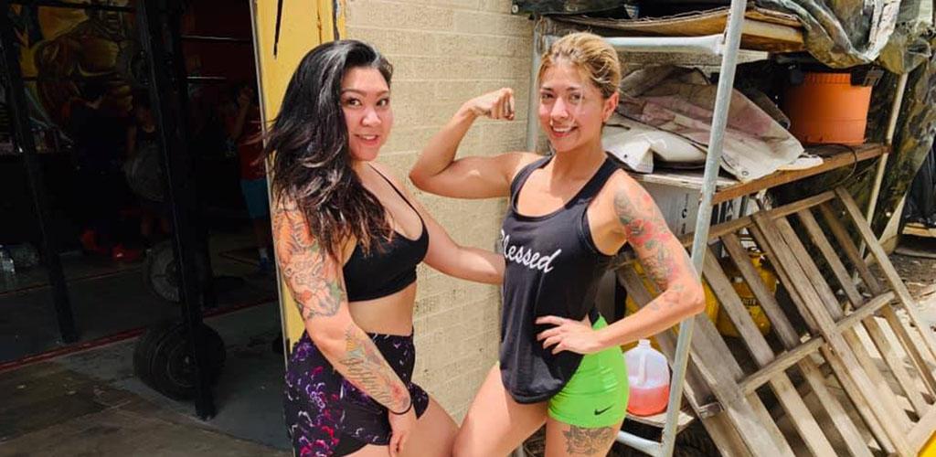 Two fit girls in Castle MetroFlex Gym